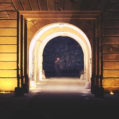 A Ghostly Appearance (Lord Demise) Tags: longexposure light night canon germany deutschland 50mm lights nacht ghost geist fortress koblenz rheinlandpfalz langzeitbelichtung rhinelandpalatinate festungehrenbreitstein 70d