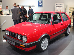 Golf GTI G60 (The Rubberbandman) Tags: auto old rabbit classic up car vw vintage germany golf volkswagen factory ii german vehicle bremen gti simple wolfsburg caddy motorshow hatchback based fahrzeug g60