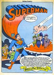 Valentine Villainy (Tom Simpson) Tags: illustration vintage comics captured bondage valentine superman 1940s cupid tied villain valentinesday 1944 loislane valentinevillainy