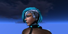 Kit_Cyber_Mellor_021616_024 (Carla Putnam) Tags: blue woman black look fashion night hair fly flying nipples jet sl pack secondlife future looks harness futuristic cyber cyberpunk hovering hover fashions lighted neurolab