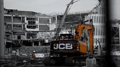 Slaying the shops (Tom Owen Abingdon) Tags: buildings jcb destruction demolition oxford shops tomowen