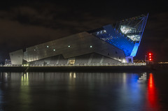 Hull Marina # 1 (Cain Foot Photography) Tags: city light water night marina buildings river hull humber thedeep nikon1v1