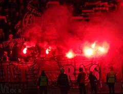 SK Slavia Praha (nemico publico) Tags: soccer praha fans sk stadion pyro fc slavia derby ostrava calcio ultras tifo awayday choreo banik synotliga