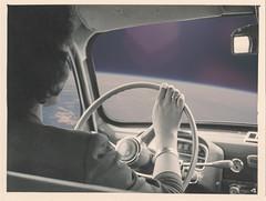 Orbit (Keysgoclick) Tags: blackandwhite car collage vintage photo driving surrealism space surreal retro collageart planet scifi sciencefiction surrealist scifiart mikhailsiskoff keysgoclick surreal42