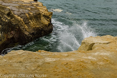 Wave on Rocks (rourkejohn) Tags: ocean california ca summer water landscape rocks waves unitedstates pacificocean marincounty marinheadlands millvalley 2015