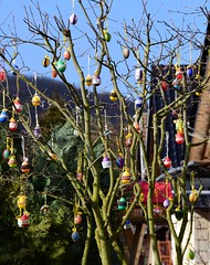 (Gerlinde Hofmann) Tags: germany easter village handmade thuringia crocheted veilsdorf easteregg easterdecoration