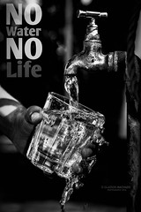 369 - No Water. No Life. (Gladson777) Tags: life india water glass monochrome project poster 50mm holding hand minolta image quote no sony flash stock conservation running save h2o clear fluid quotes precious drought faucet maharashtra waste alpha tap dslr 18 awareness campaign liquid f4 bnw famine elixir overflow maxxum vital shortage a58 f17 wastage