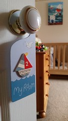 83 of 366 (I line photography) Tags: blue red sailboat toys theo doorhandle 365project theosbedroom grandmangrandadshouse