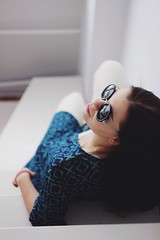 (slznv) Tags: portrait sunlight home girl beauty smile sunglasses fashion contrast hair happy lights design spring colours photoshoot natural bokeh moscow details decoration style shooting minimalism colouring  helios       helios442     442  canoneos600d