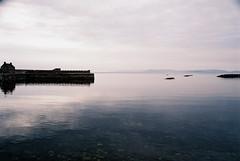 Waiting for the ferry (Rock Webb) Tags: sea seascape film water beautiful scotland scenery harbour sigma seawall contax vista analogue manual agfa manualfocus manualexposure contax139q sigma28mm