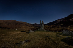 Moon Rock II (GenerationX) Tags: sky mountains rock stars landscape scotland unitedkingdom perthshire scottish neil calm gb moonlight clearsky barr cleft glenlyon canon6d camusvrachan valleyofthesungod prayinghandsofmary fionnsrock