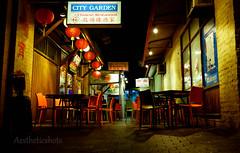 Chinatown Perth (Aestheticshots) Tags: street beautiful night dark restaurant scenery chinatown quiet colours shadows chairs chinese perth nightlight gangsta westernaustralia citygarden fujifilmx100s