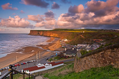 Saltburn beach and Huntcliffe. (paul downing) Tags: sunset nikon 12 filters hitech huntcliffe gnd saltburnbythesea pd1001 pauldowning d7200 pauldowningphotography