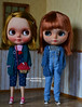 Oli and Honey (ronmielshop) Tags: blue doll handmade coat knit piccadilly clothes jersey blythe nl cloth nicky cardigan licca diorama emeral liccabody piccadillydollyencore piccae ronmiel nickylad ronmielshop