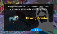 Tapped Out: Clawing Zombie Community Prize (TedParsnips) Tags: screenshot zombie screengrab ghost cartoon simpsons app homersimpson freemium tappedout