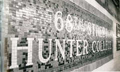 68th St. Subway Station Sign (Hunter College Archives) Tags: newyorkcity newyork yearbook hunter subwaystation 1994 lexingtonave cityofnewyork huntercollege 68thst wistarion thewistarion