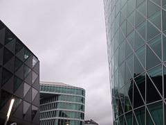 Westhafen (bosseniemann) Tags: winter architecture buildings germany dark grey fuji frankfurt glas westhafen x30