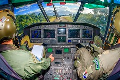 On board (Johnson Barros) Tags: window cabin panel helicopter machines aerialphotography caracal ec725 foraareabrasileira brazilianairforce