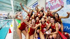 Women's Water Polo Olympic Games Qualification Tournament 2016 - Gouda (fina1908) Tags: blue women thenetherlands fina ned esp waterpolo olympicgames gouda qualification 2016 tournament2016 nedspainespcheers