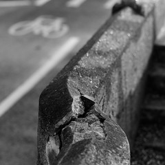 Sea Wall (Andrew Malbon) Tags: road leica bw square concrete blackwhite seaside spring bokeh steps hampshire summicron cycle solent portsmouth wabisabi seafront brutalism southsea m9 strongisland 90mmf2 leicam9