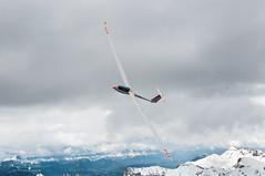 1S turning left (Tobiasstift) Tags: cloud mountain clouds airplane berge soaring gliding glider pilot segelfliegen ls8 segelflugzeug segellfiegen