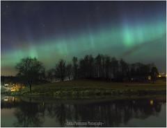 Northern light (Jukka75) Tags: longexposure light sky reflection tree canon finland landscape star photos northern discovery porvoo d60