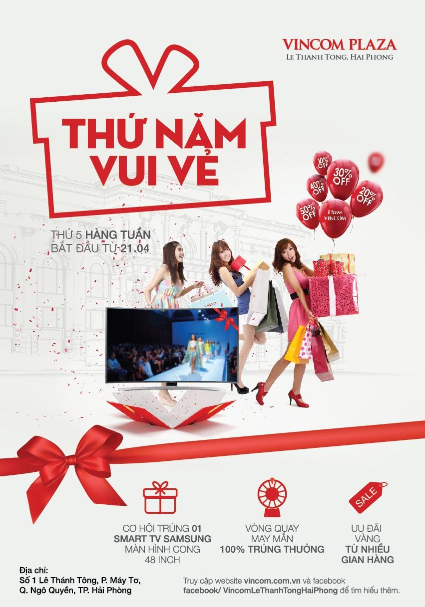 'Thứ Năm Vui Vẻ' tại Vincom Plaza Lê Thánh Tông, Hải Phòng