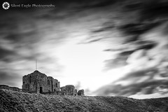 Tynemouth Priory and Castle (Silent Eagle  Photography) Tags: longexposure sky bw sun castle clouds canon garden photography mono yahoo google silent eagle northumberland lee sep northeast tynemouthpriory nube flipboard 40sec ilovebw leefilters canoneos5dmarkiii silenteagle09