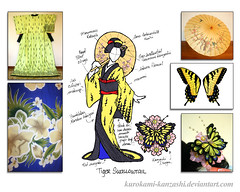 Tiger Swallowtail - Kitsuke Concept Sketch (Kurokami) Tags: show flowers blue ladies girls woman ontario canada anime flower floral girl fashion japan lady butterfly cherry asian japanese wings women asia blossom tiger north blossoms wing lindsay bee lepidoptera fairy fantasy parasol wig faery frangipani sakura kimono folded bumble swallowtail fae kitsuke katsura tsumami kesa 2016 marumage kanzashi hikizuri susohiki hanabachi susoyoke