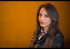 Flavia (Stranger #99/100), Ischia Italy (flatworldsedge) Tags: street portrait italy macro eye girl canon project italian streetlamp strangers headshot 100mm stare 100 contact ischia arrabiata strobist