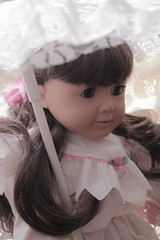 Lace (Vuffy VonHoof) Tags: pink girls red party white art girl rose toy toys photography photo doll dolls child dress tea lace victorian picture company teen american pre samantha mattel edwardian pleasant