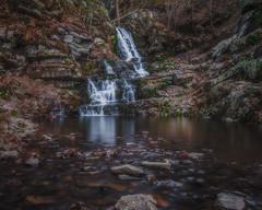 Hidden Waterfall (Dustin Graffa) Tags: york reflection landscape photography waterfall exposure slow pennsylvania pa shutter bracketing yorkcounty landscapephotography blenging