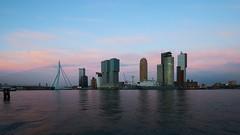 Wilhelminapier (twilight) (Wijnand Kroes Photography) Tags: water skyline rotterdam erasmusbrug wilhelminapier