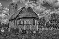 Hales in monochrome (David Baldock Photography) Tags: uk blackandwhite building church monochrome fuji outdoor norfolk arcitecture xpro1
