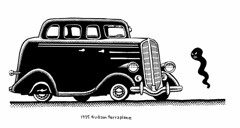 1935 Hudson Terraplane (Don Moyer) Tags: auto moleskine car ink notebook automobile drawing vehicle hudson moyer brushpen terraplane donmoyer