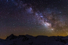 Milky Way (MaDBoL PHOTO) Tags: longexposure nightphotography sky naturaleza snow nature night stars noche nieve via astrophotography estrellas astronomy pyrenees exposicion larga pirineos 18mm pirineo milkyway lightpolution lactea largaexposicion contaminacionluminica vialactea canon7d photopills slowshutterexpo