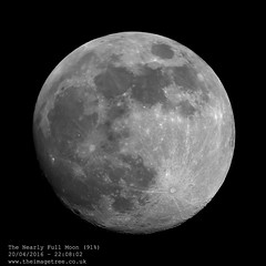 The Nearly Full Moon (91%) (Gez_1) Tags: moon lua lunar celestron pipp nexstar5se canon5dmkii adobephotoshopcs5 registax6