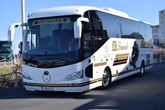 YJ16UTD  KM Travel, Barnsley (highlandreiver) Tags: travel bus utd coach european yorkshire rally blackpool km coaches barnsley 2016 yutong yj16 yj16utd