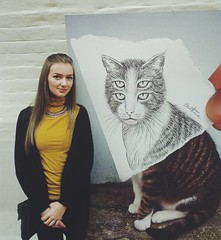 Photos from Fans and Visitors - Ben Heine Solo Exhibitions in Russia #benheinerussia (Ben Heine) Tags: show woman news art girl pose video russia drawing moscow exhibition dessin event exposition fans visitors itinerant selfy selfie  tyumen  arkhangelsk    benheineart expomania