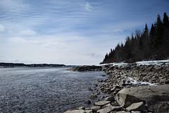 La Grande Rivire - LG-1 (frederic.larochelle) Tags: snow canada ice water rock america forest river la grande melting quebec north rivire neige fonte glace boreal taga lg1