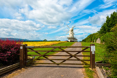 Usk Valley Windmill, Llancayo (technodean2000) Tags: uk sky food plant windmill field grass wales landscape sand nikon outdoor dune newport valley monmouth serene sk hay plain usk lightroom monmouthshire d610 llancayo