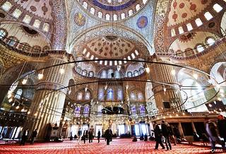 Wonder Blue Mosque Inside Istanbul