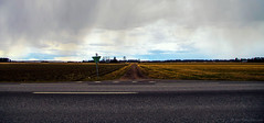 April showers (Joni Mansikka) Tags: road nature rain clouds rural suomi finland landscape outdoor april fields showers mellil