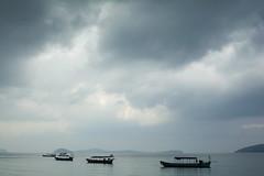 Cambodia (R H Thompson Photography) Tags: ocean morning blue sea water landscape boats fishing nikon asia cambodia