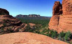 """Punto de Pollo""  - Chicken Point (John A. McCrae) Tags: red arizona landscape unitedstates sedona trail vista redrock viewpoint brokenarrow pinkjeeptours chickenpoint pentaxk5"