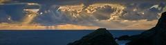 Lever de soleil chaotique  la pointe des poulains (cyril4494) Tags: france sunrise de landscape soleil ile bretagne olympus des belle pointe paysage lever mkii poulains em5