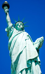 Statue of Liberty -- Liberty Island New York Harbor (NY) April 2016 (Ron Cogswell) Tags: gustaveeiffel statueoflibertyny frdricaugustebartholdi roncogswell statueoflibertylibertyislandnewyorkharborny frenchsculptorfrdricaugustebartholdi frenchbuildergustaveeiffel