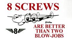 8 Squadron Un-Official Motto (eLaReF) Tags: 8sq lossiemouth blowjob screws shackleton aew2 screw blowjobs avro sticker unofficial motto 8squadron buccaneer