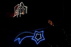 Castiglione della Pescaia - Chistmas 2015 (Mario Mencacci) Tags: christmas light tower window silhouette night star bell campanile comet natale castiglionedellapescaia castiglione cometa pescaia