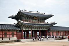 Entrance to Gyeongbokgung Palace (katushau) Tags: city asia royal palace korea east seoul southkorea gyeongbokgung gyeongbokgungpalace